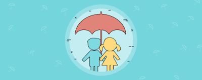 barnförsäkring, barn under paraply
