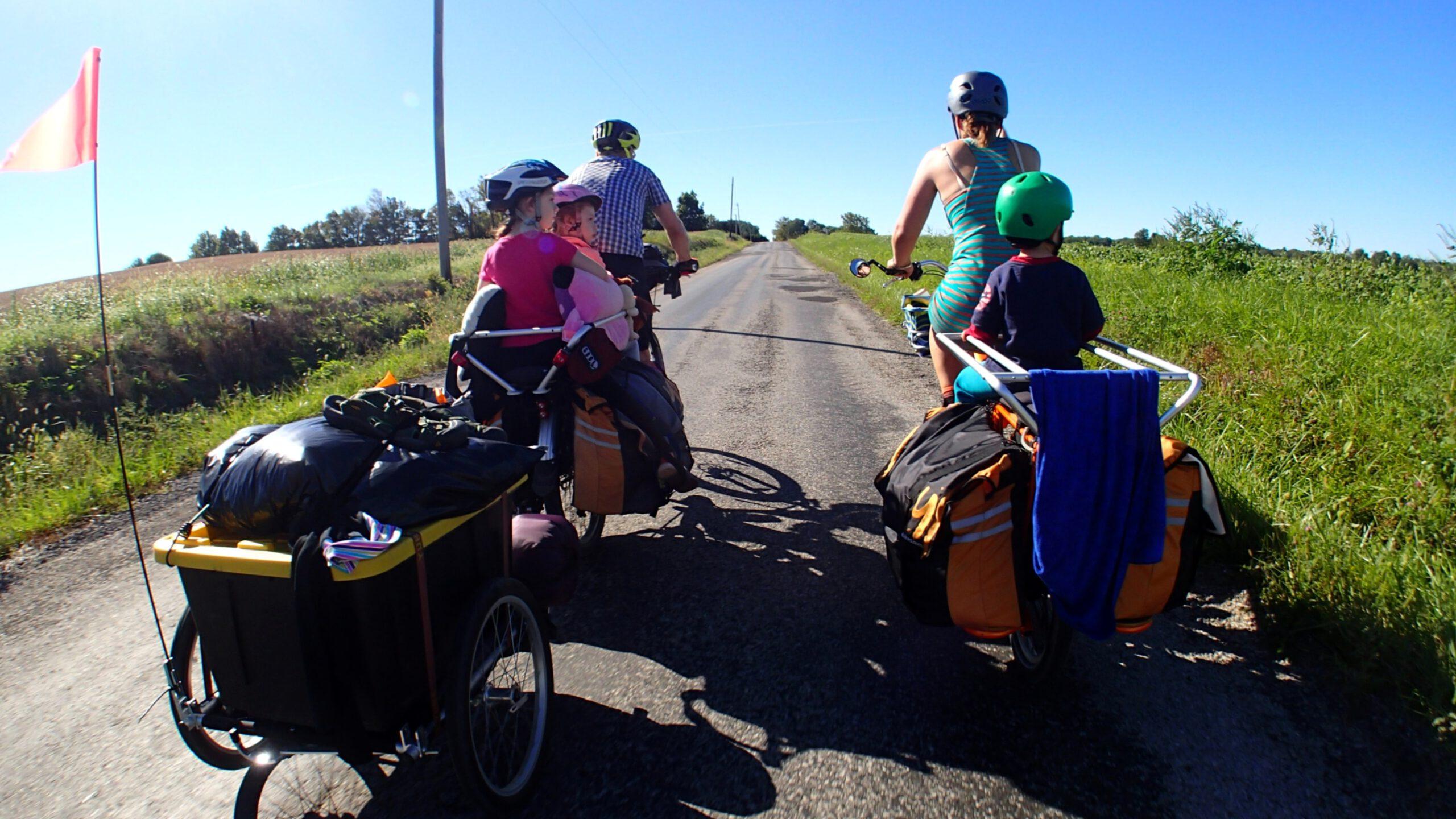 cyklande familj